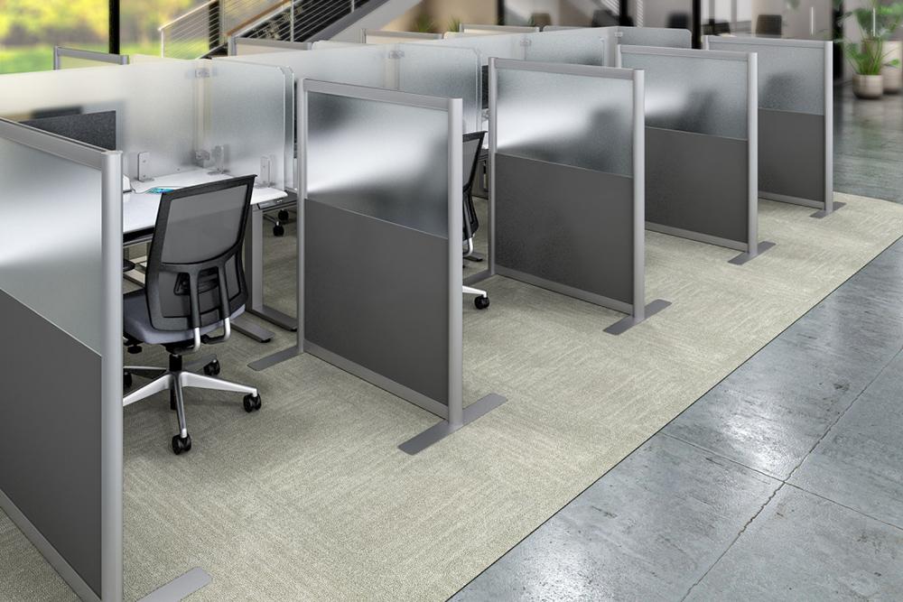 Gray freestanding dividers