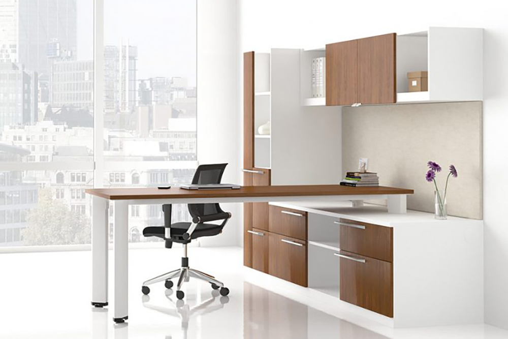 White and cherry private office