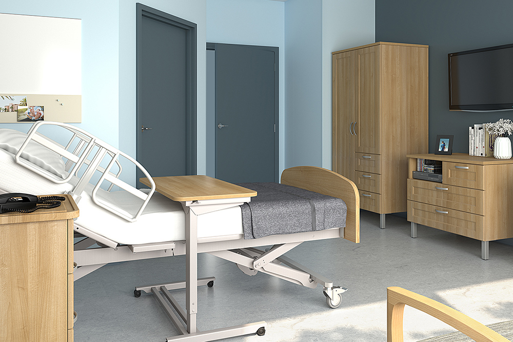 Storage for private hospital room