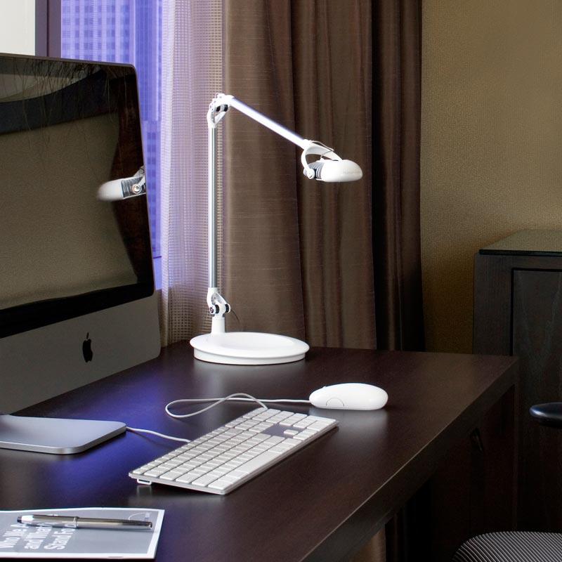 White tabletop light