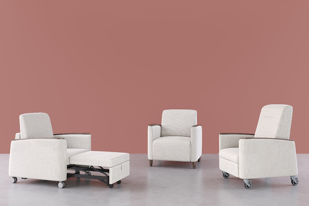 White patient chairs