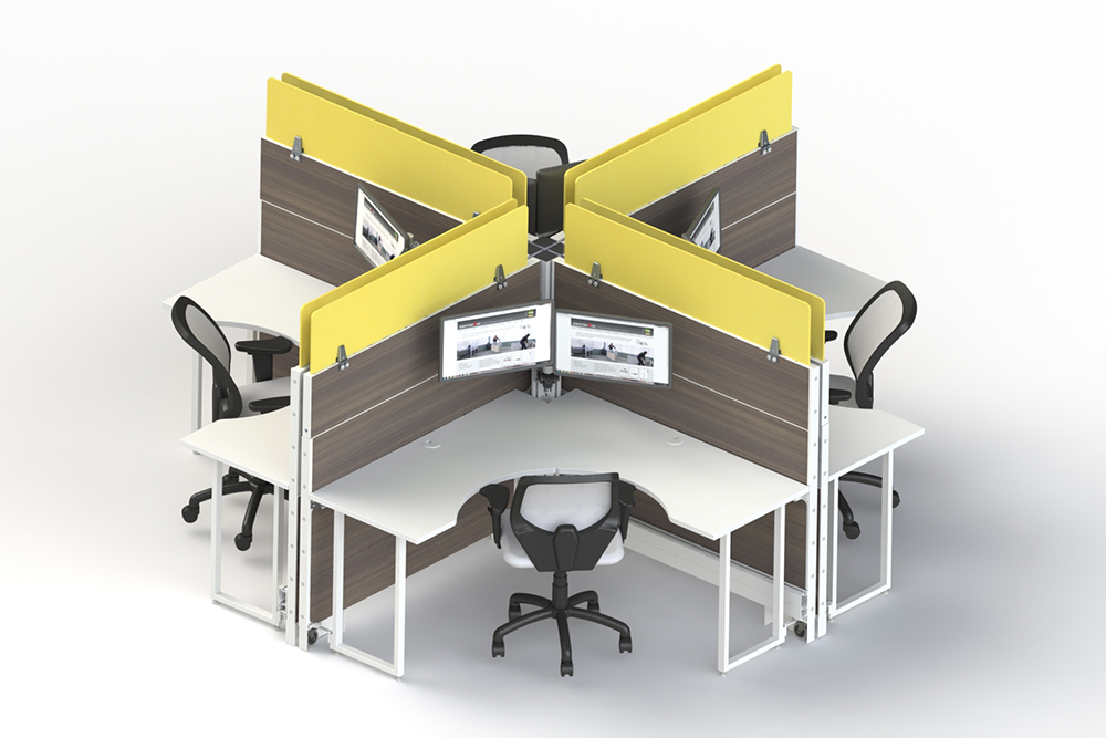 X shaped workstation