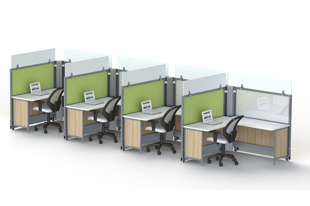Workstations on casters
