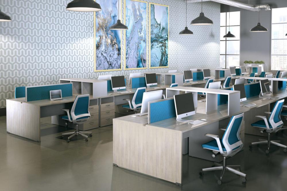 Blue ergonomic chair