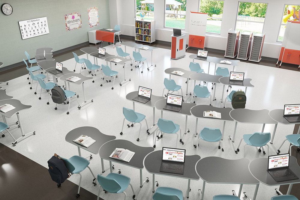 School furniture that's movable