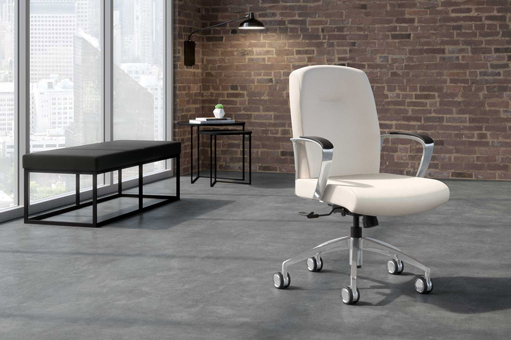 Swivel task chair in home office