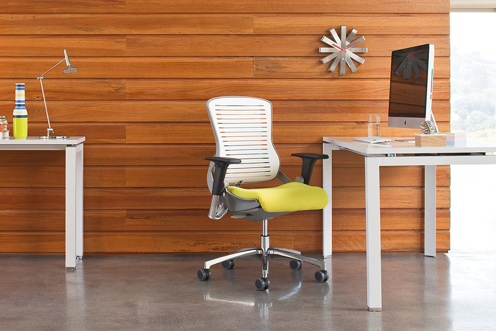 Task chair with desks