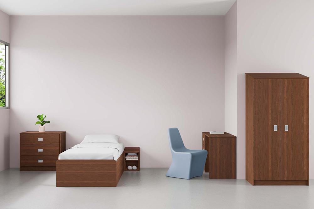 Behavioral health furniture in patient room