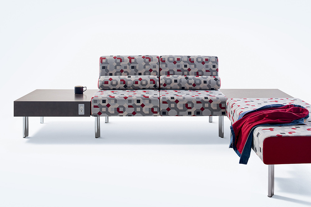 patterned lounge sofa