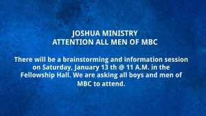 Joshua Ministry Meeting