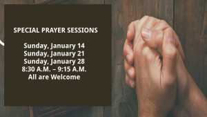 January Prayer Sessions