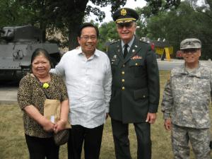 From left to right: Ms. Leticia Jimenez, Consul General Herrera-Lim, Col. Richard McMahon (ret.), MBDO President, and Mr. Edward Brotonel, MBDO Director. Photo: courtesy of MBDO