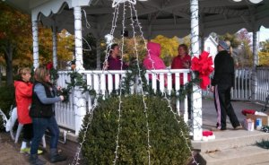 Community members in Port Clinton decorating for Christmas, and for Devin. (Copyright 2013 Toledo News Now. All rights reserved.)