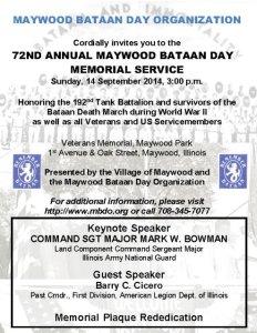 2014 MBDO Bataan Day invitation POSTCARD