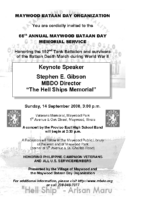 2008 MBDO Bataan Day invitation