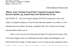 77th Annual Maywood Bataan Day Press Release