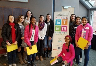 students a the Statewide STEM Summit for Girls