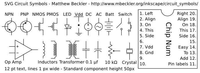 SVG Circuit Symbols :: Mbeckler.org