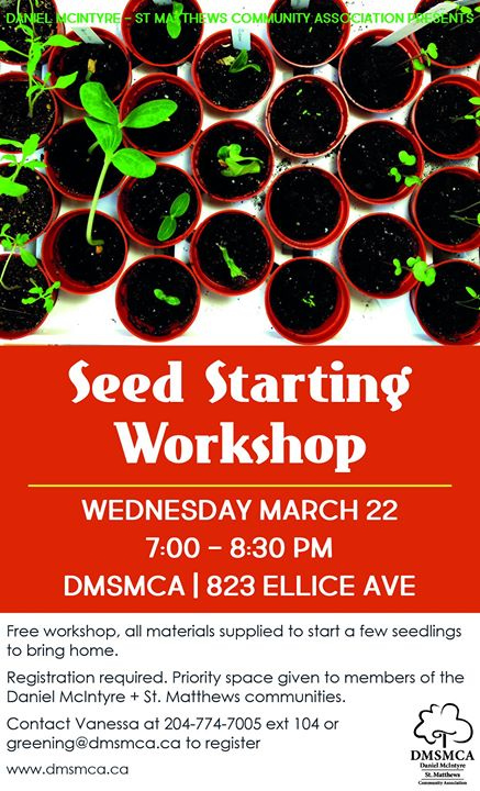 Seed Starting Workshop at dmsmca