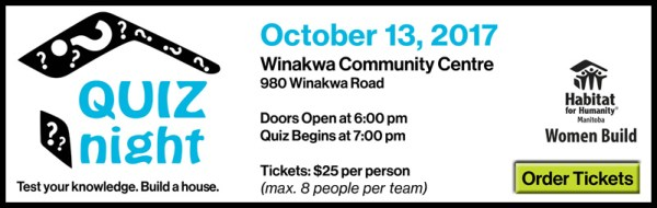 Habitat for Humanity Manitoba Women Build Quiz Night