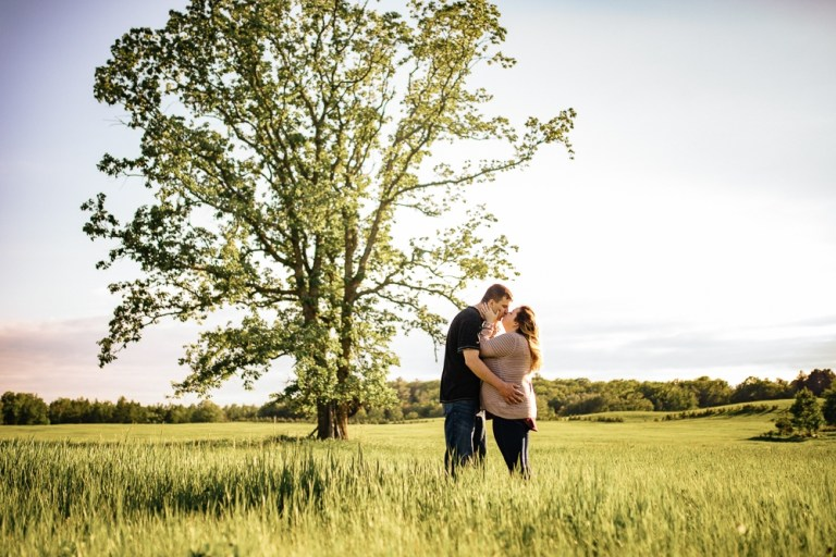 Jake + Hannah // Engagement at the Farm
