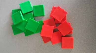 Red and green Health Chips