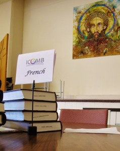 Participants spoke English, French, and Spanish. Translation was provided at the tables.