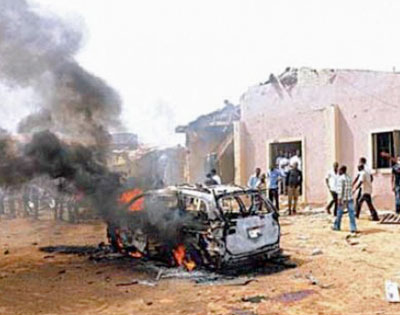 Suicide bombing, Harvest Field Church, Bauchi, Nigeria, June 3, 2012 Photo: Courtesy World Watch Monitor