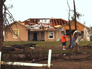 A home in Shawnee, Okla., damaged by the May 19 tornado.