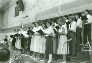 Celebration Choir performs in 1986. Photo courtesy Centre for MB Studies