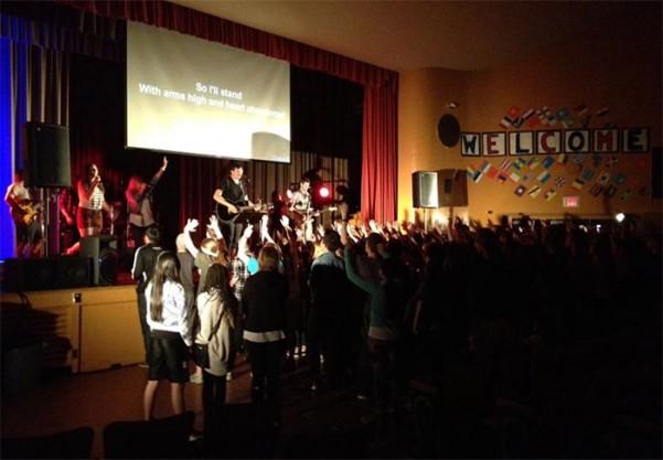 Chapel worship band