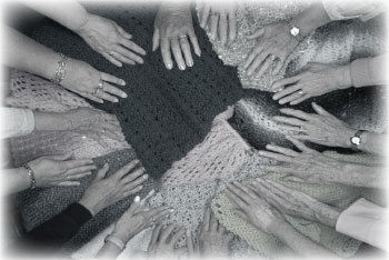 Fairview's prayer shawls and caring hands. Photo: Courtesy Fairview