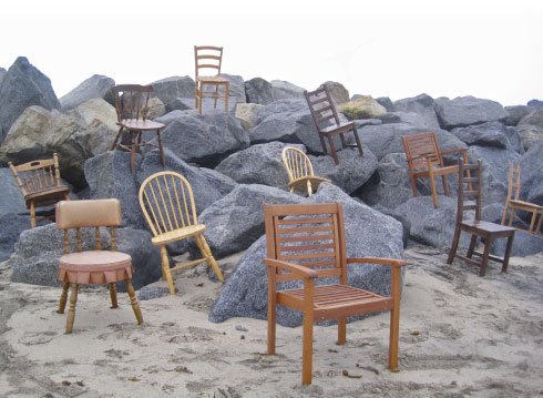 "Art installation, Olga Lah (""compline,"" 2011)"