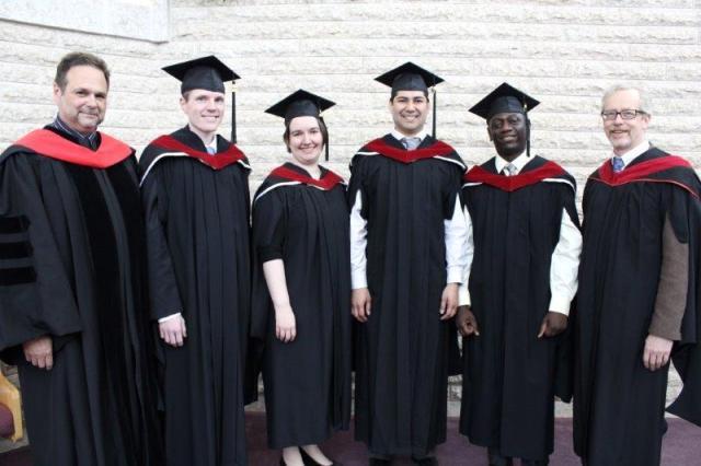 Professor Pierre Gilbert, Jonathan Jandavs-Hedlin, Kathy McCamis, Jose Moraga Diaz, Arisnel Mesidor, professor Andrew Dyck
