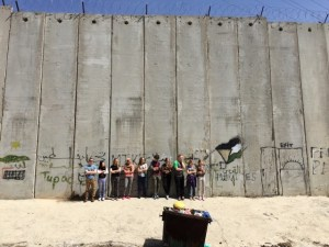 MBCI students on tour in the Holy Land encounter the separation wall.