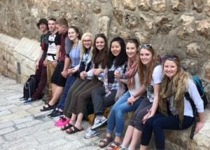 MBCI students on tour in the Holy Land.