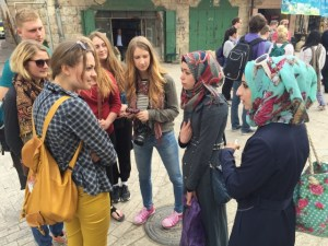 MBCI students on tour in the Holy Land encountered fellow high school students in Hebron.