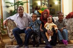 John and Rena Pearsons's refugee family.