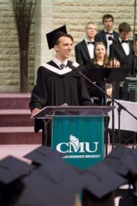 Valedictorian Jonas Cornelsen. PHOTO courtesy of CMU.
