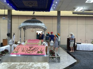 Participants on one Experience Toronto bus briefly visited a Sikh temple