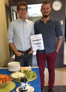Summer students farewelled with food.