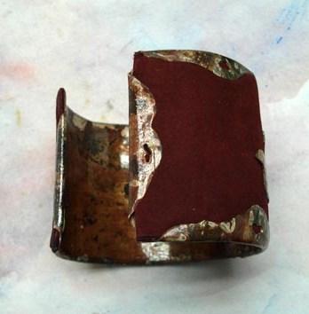 Bracelet Manchette cuir métal
