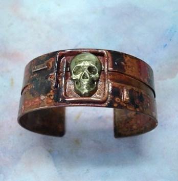 Bracelet Manchette tête de mort