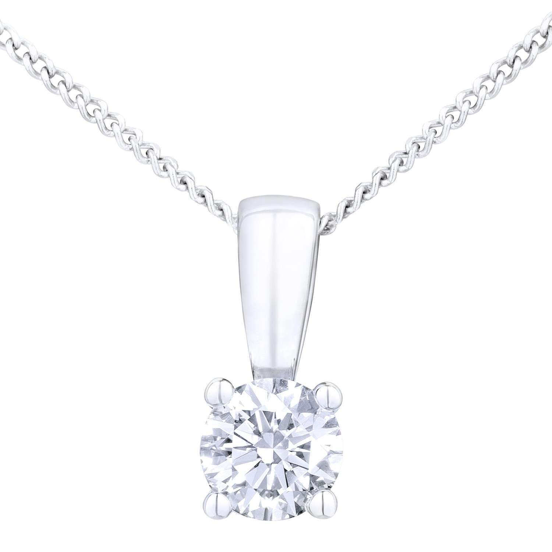18CT WHITE GOLD 0.25CT DIAMOND SOLITAIRE PENDANT