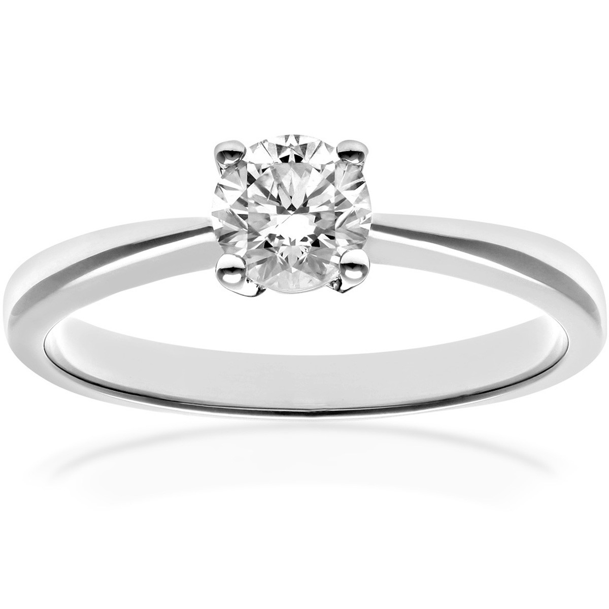 18CT WHITE GOLD 0.50CT DIAMOND SOLITAIRE RING