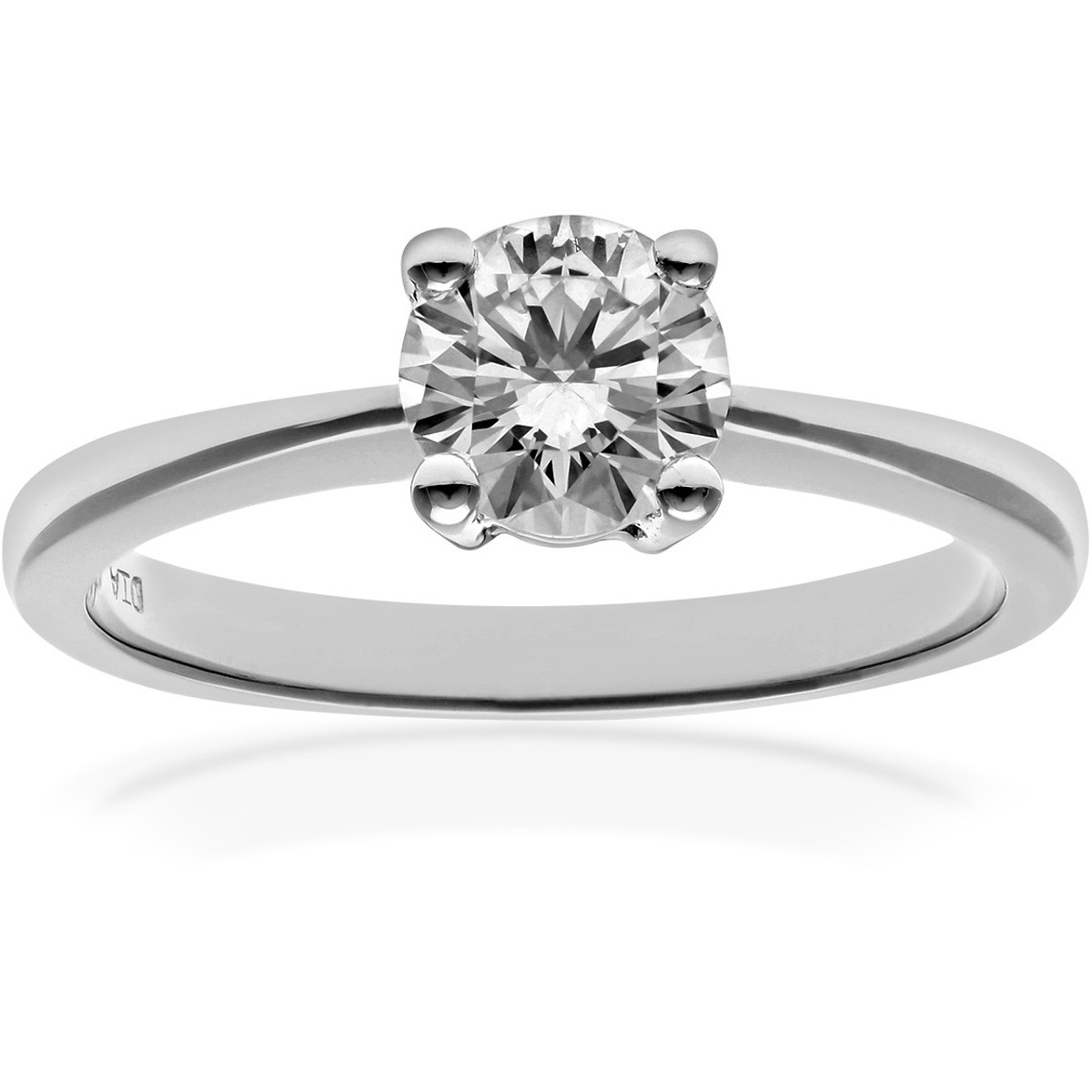 18CT WHITE GOLD 0.75CT DIAMOND SOLITAIRE RING