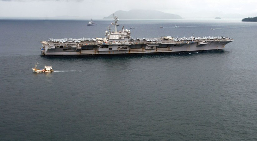 Western Pacific to be without U.S. aircraft carriers for four months