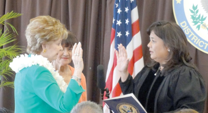 Congresswoman Bordallo sworn in