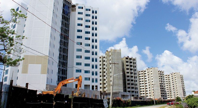 Towering over Tamuning: High rise near completion