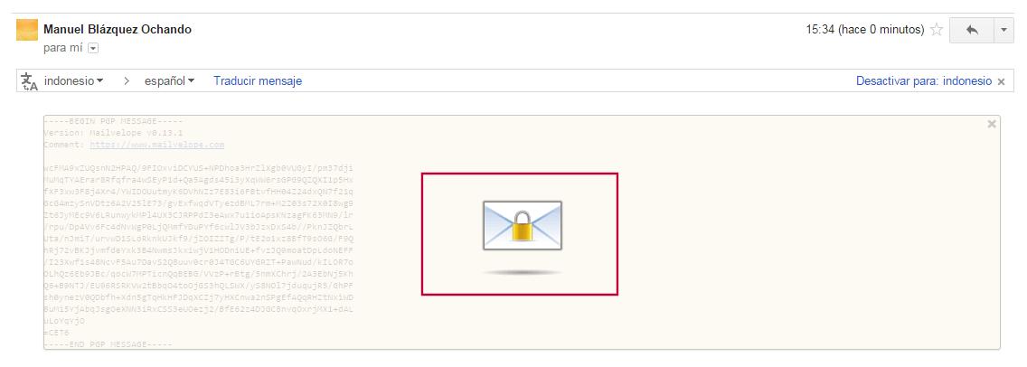 Desencriptar el mensaje cifrado